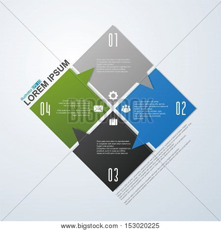 Vector arrows for infographic,illustration of business conceptual design.