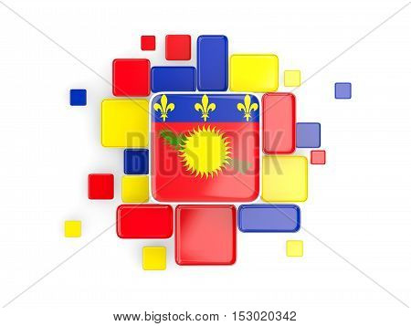 Flag Of Guadeloupe, Mosaic Background