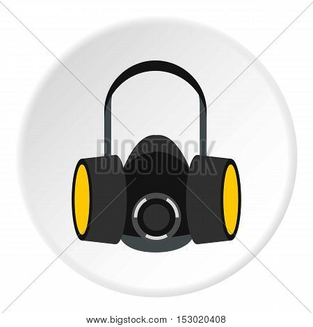Gas half mask icon. Flat illustration of gas half mask vector icon for web