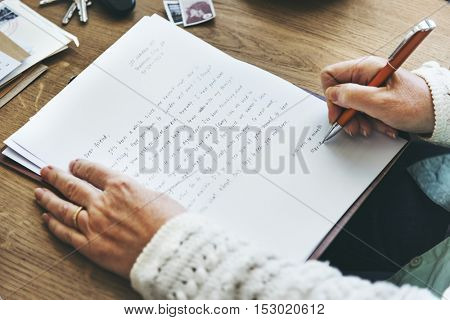 Correspondence Writing Letter Handswriting Concept
