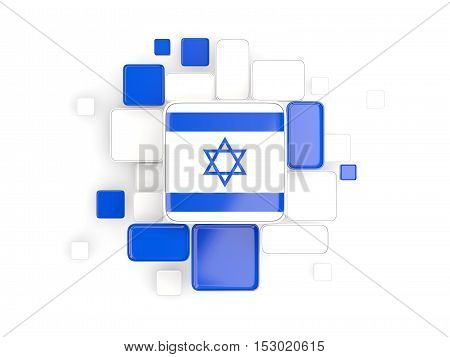 Flag Of Israel, Mosaic Background