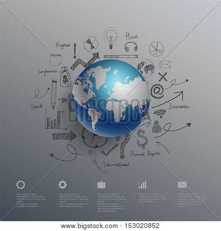 World map infographics. Vector Illustration, eps10,business concept illustration design.