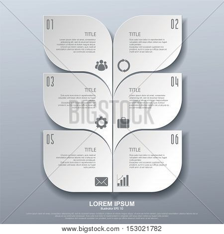 Vector infographics. Template map drawing presentation and graphics.parts steps or processes. Abstract background.