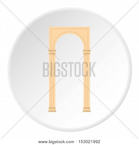 Rectangular arch icon. Flat illustration of rectangular arch vector icon for web