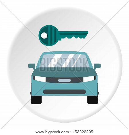 Car from impound yard icon. Flat illustration of car from impound yard vector icon for web