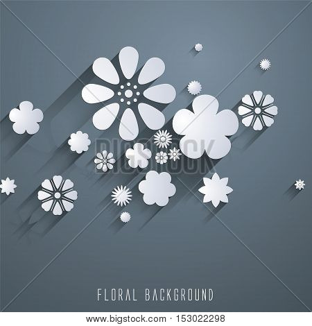 Floral background, Vector illustration, abstract Floral pattern.
