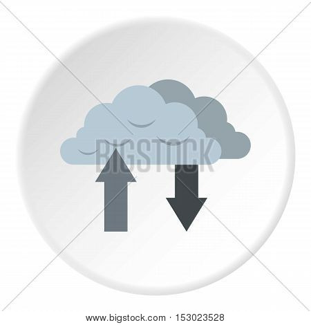 Upload and download data icon. Flat illustration of upload and download data vector icon for web