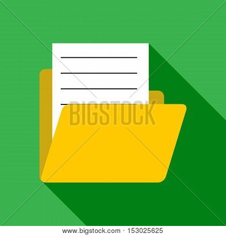 Document in letter icon. Flat illustration of document in letter vector icon for web