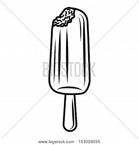 Sundae icon. Outline illustration of sundae vector icon for web