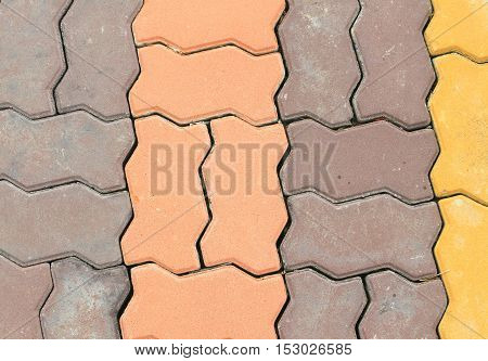 brick floor texture cement  and color background .