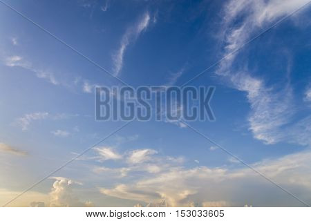 blue sky with white cloud background look link tine line move