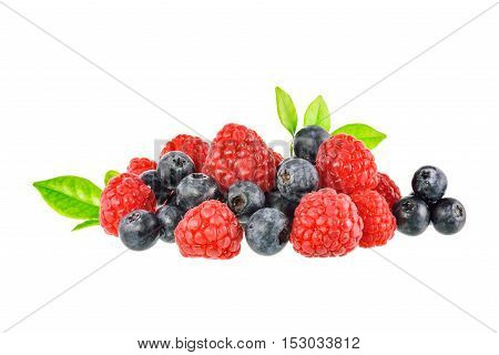 Fresh Mix berry on a white background