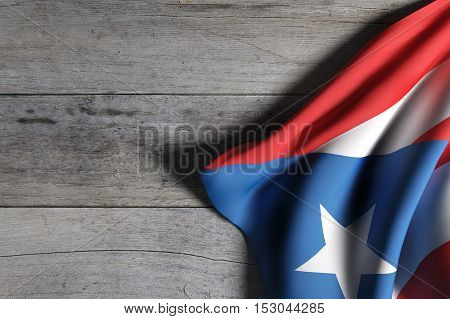 Commonwealth Of Puerto Rico Flag Waving