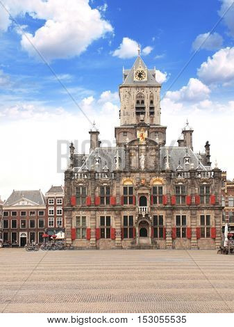 Council building (Stadhuis), Central square, Delft (hometown of Johannes Vermeer), Netherlands