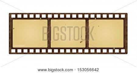 Vector retro filmstrip with grunge paper texture.