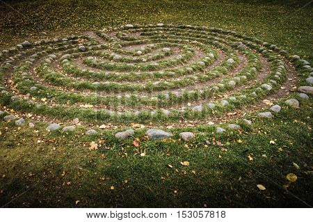 Very old maze in Sweden. Goes all the way back to the stone age. No one knows excactly what it was used for.