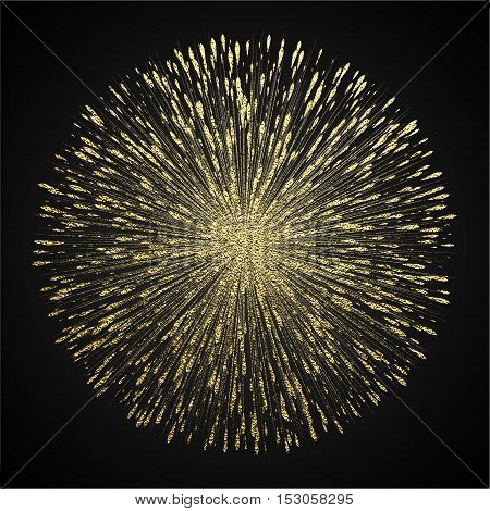 Transparent Glow Light Effect. Star Burst With Sparkles.