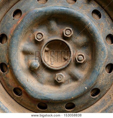 Old Metal Alloy Wheel Car Vehicle