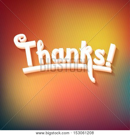 Thank you card on colorful magic geometric background. Gratitude card for different occasions