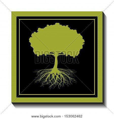 An illustration of a tree as a symbol of nature and ecology.