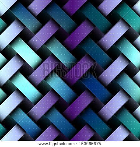 Seamless background pattern. Abstract matrix board with a interweaving effect.