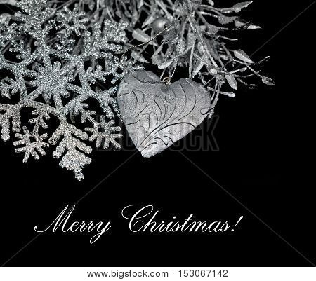 Christmas Decoration isolated on black . element decoratio.