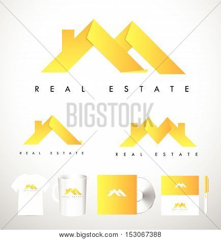 Real Estate House Logo. Real Estate Icon. Vector House Estate Logo
