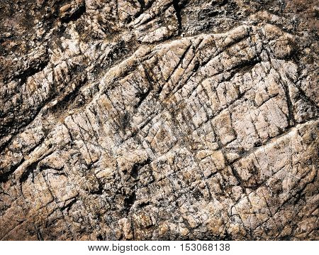 abstract background or texture with brownish limestone grooves