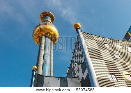 Vienna, Austria - October 15, 2016: Incineration Plant In Vienna, Built By The Famous Austrian Archi