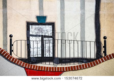 Vienna, Austria - October 15, 2016: Detail Facade Of Spittelau Waste Incineration In Vienna, Built B