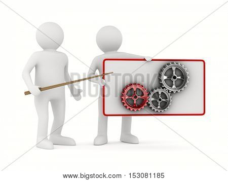 Technological presentation. Isolated 3D image