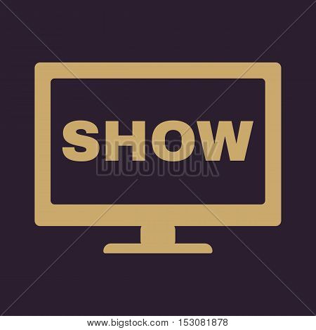 The tv show icon. Television and telly, telecasting, broadcast symbol. Flat Vector illustration poster