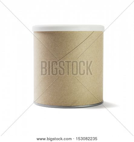Paper Cardboard Container White Background