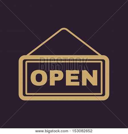 The open sign icon. Input and entrance symbol. Flat Vector illustration
