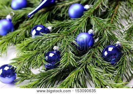 Multicolored Christmas ornaments made by dressing the Christmas tree for the new year