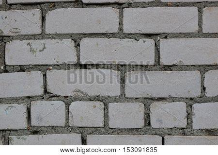 masonry of silicate white brick background industrial construction