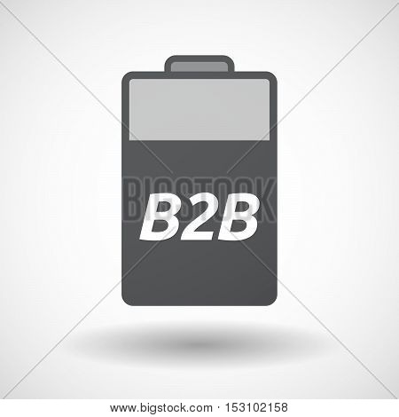 Isolated  Battery Icon With    The Text B2B
