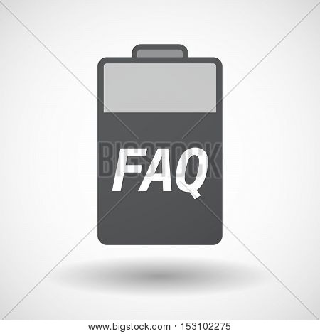 Isolated  Battery Icon With    The Text Faq