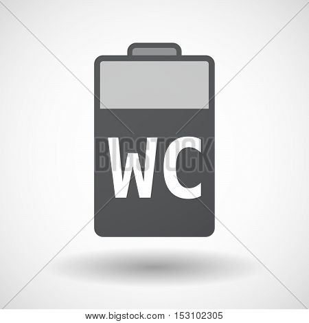 Isolated  Battery Icon With    The Text Wc