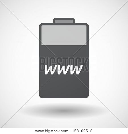Isolated  Battery Icon With    The Text Www