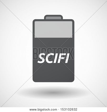Isolated  Battery Icon With    The Text Scifi