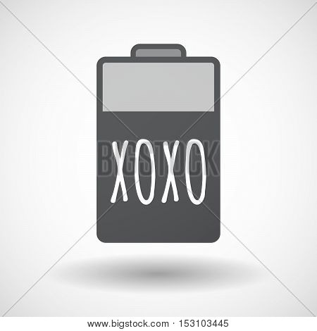Isolated  Battery Icon With    The Text Xoxo