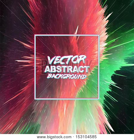 Abstract explosion colorful background. Splash screen explosion ready for your design. Vector EPS10.