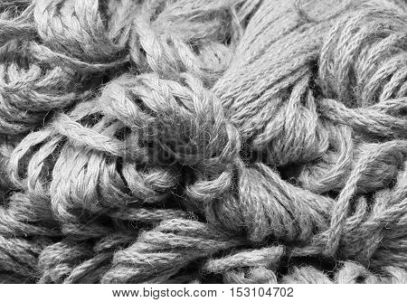 Background Of Many Skeins Of Raw Strings For Sale