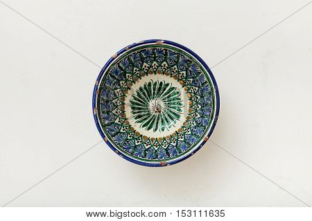 Typical Central Asian Bowl On Plastering Plate