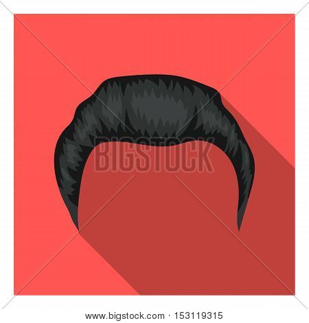 Man's hairstyle icon in flat style isolated on white background. Beard symbol vector illustration.