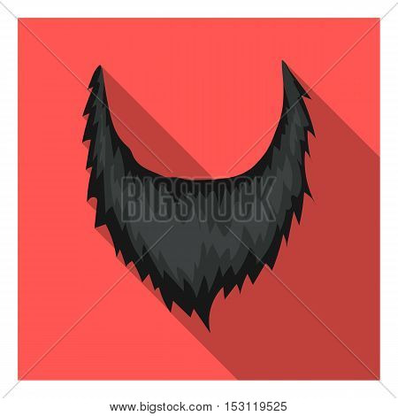 Man's beard icon in flat style isolated on white background. Beard symbol vector illustration.