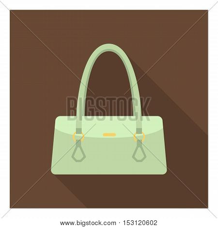 Women bag icon in flat style isolated on white background. Clothes symbol vector illustration.