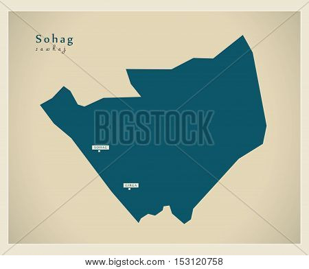 Modern Map - Sohag EG vector high res