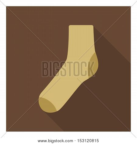 Socks icon in flat style isolated on white background. Clothes symbol vector illustration.